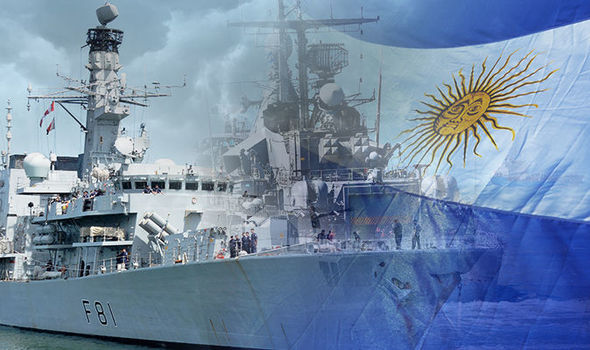 British Royal Navy Ship in Argentina